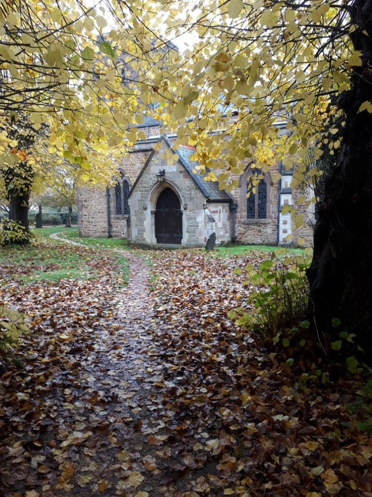 Autumn Colours in Barby Churchyard
