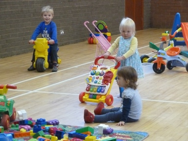 Children playing at Mums & Tots Group